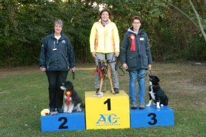 O1 1. Platz Stefanie Klincksiek mit Fly 2. Platz Martina Heimann mit Joschi 3. Platz Conny Mielke mit Fame