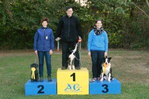 O3 1. Platz Daniela Hagedorn mit Eni 2. Platz Anne Hüser mit Bella 3. Platz Larissa Pütter mit Taleia